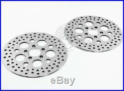 Chrome 11.5 Stainless Steel Front Rear Disc Disk Brake Rotors Rotor Set Harley