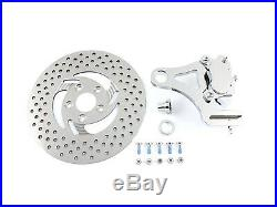 Chrome Rear 4 Piston Caliper and 11-1/2 Disc Kit, for Harley Davidson, by V-Twin