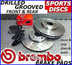 Citroen Saxo VTR VTS FRONT & REAR Drilled/Grooved Brake Discs & BREMBO Pads