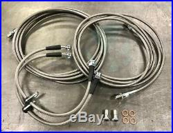 Complete Stainless Rear Brake Line Replacement Kit For 94-97 Honda Accord Withdisc