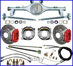 Currie 78-87 Gm G-body Rear End & Wilwood Disc Brakes, Red Caliper, Lines, E-cables