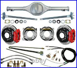 Currie 82-97 S-10 & Blazer Rear End & Wilwood Drilled Disc Brakes, Red Calipers, +