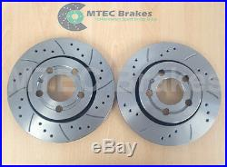 DRILLED GROOVED BRAKE DISCS FRONT REAR AUDI A3 S3 312mm