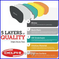 Delphi Vauxhall Vivaro Front and Rear Brake Discs Pads ABS Ring & Wheel Bearings