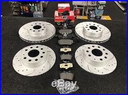 Drilled Grooved Audi Tt A3 8l1 Golf Mk4 Ibiza Leon Front Rear Brake Discs Pads
