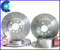 E36 318ti Compact Drilled Grooved Front Rear Discs Pads