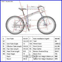 Eurobike Full Suspension Folding Mountain Bike 26 Disc Brakes 21 Speed Bicycle