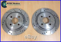 FORD FOCUS ST170 NEW Drilled Grooved Brake Discs REAR Pair
