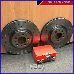 FOR AUDI S4 4.2 V8 B6 B7 REAR CROSS DRILLED BRAKE DISCS PADS MINTEX 300mm 04
