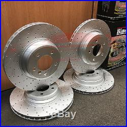 FOR BMW 335i 335D FRONT REAR CROSS DRILLED PERFORMANCE BRAKE DISCS MINTEX PADS