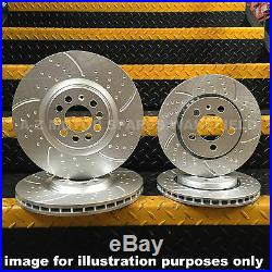 FOR BMW E46 320D 320TD 320 325 CI 328 i M SPORT FRONT REAR GROOVED BRAKE DISCS