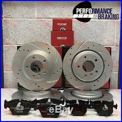 FOR BMW E46 330ci 330i 330d 330Cd FRONT REAR PERFORMANCE BRAKE DISCS MINTEX PADS
