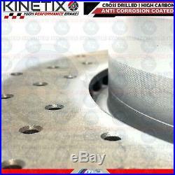 FOR BMW E46 M3 REAR DRILLED BRAKE DISCS PLATINUM PAD WIRE SENSOR 328mm