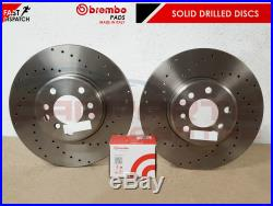 FOR GOLF R MK7 REAR OE PERFORMANCE DRILLED BRAKE DISCS BREMBO PADS 310mm