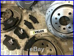 FRONT & REAR DRILLED & GROOVED DISCS PADS SAAB 93 VAUXHALL SIGNUM VECTRA C 314mm