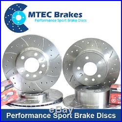 Fabia 1.9 TDi VRS 130bhp 03-07 Front Rear Brake Discs Drilled Grooved Plus Pads