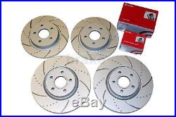 Focus ST 2.5 Coated Brake Discs and Brembo Pads Front Rear Dimpled Grooved 225