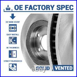 Font+Rear Drill Slot Brake Rotors And Ceramic Pads For 2008 2014 Cadillac CTS