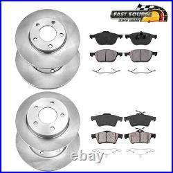 For 2006 2007 2008 2009 2010 2011 2012 Mazda 3 Front+Rear Rotors & Ceramic Pads