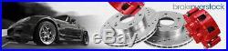 For 2006 2007 2008 2017 Dodge Ram 1500 Front+Rear Brake Rotors + Ceramic Pads