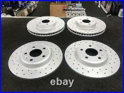 For Audi A6 2.0 Tdi 177 C7 S Line Front Rear Drilled Brake Discs And Mintex Pads