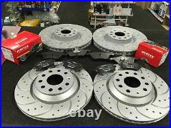 For Audi S3 A3 Quattro 8v Brake Discs Drilled Grooved Brake Pads Front Rear