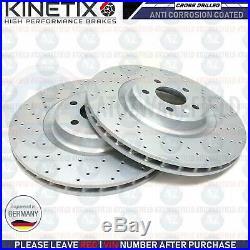 For Audi S4 B8 S5 V6 V8 Front Rear Cross Drilled Brake Discs Mintex Pads Sensors