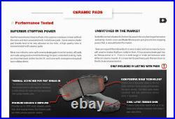 For BMW 318i 325i 328i E36 Front + Rear Drill Slot Brake Rotors & Ceramic Pads