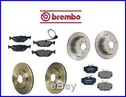 For BMW E30 325i 87-92 Front & Rear Disk Brake Rotors with Pads Kit Brembo/Bosch