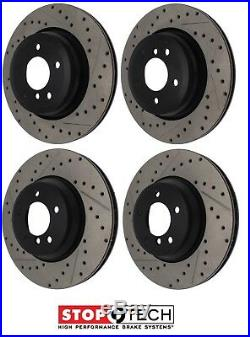 For BMW E90 E92 Front&Rear StopTech Drilled&Slotted Brake Discs Street Pads KIT