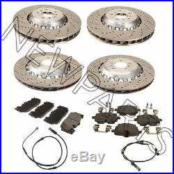 For BMW F06 F10 F12 F13 M5 M6 Front & Rear Vented & Drilled Disc Brake Rotors