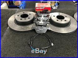 For Bmw 525 535d F07 F10 Brake Discs Drilled Brake Pads Sensor Front Rear