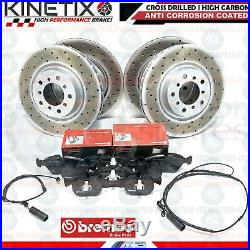 For Bmw E46 M3 3.2 Front And Rear Drilled Brake Discs Brembo Pads Wire Sensors