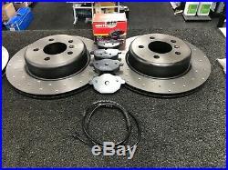 For Bmw F10 F11 Model M-sport Brake Discs Drilled Brake Pads Sensor Front Rear