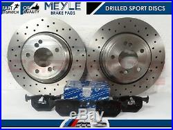 For Bmw M3 E46 3.2 00-07 Rear Performance Drilled Brake Discs Meyle Germany Pads