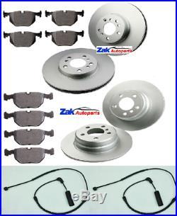 For Bmw X5 E53 2000-2006 Front & Rear Brake Discs & Pads Set + Wear Wire Sensors