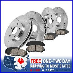 For Charger Challenger Magnum Front+Rear Drill Slot Brake Rotors +Ceramic Pads