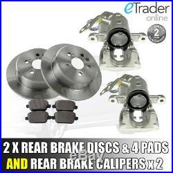 For Ford Mondeo MK4 2007-2015 Rear Brake Calipers PAIR & Brake Discs inc Pads