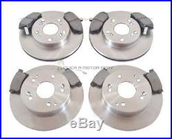 For HONDA CIVIC 1.6 EP2 + SPORT 01-06 FRONT & REAR BRAKE DISCS AND PADS 5 STUD