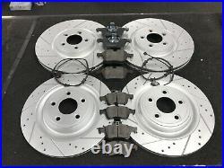 For Jaguar Xf 3.0d V6 Portfolio Cross Drilled Grooved Brake Disc With Pads