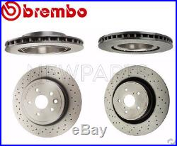 For Lexus IS F 08-14 Two Front+Two Rear Disc Brake Rotors Brembo OEM