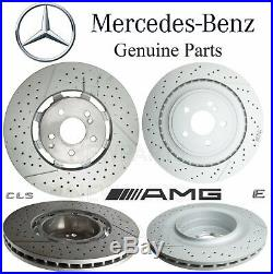 For MB W212 W218 AMG Pair Set 2 Front & Rear Disc Brake Rotors Slotted Drilled