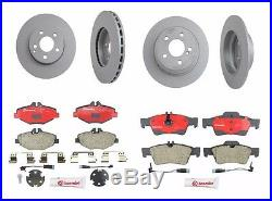 For Mercedes-Benz E320 E350 Set of Front & Rear Disc Brake Rotors & Pads