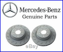 For Mercedes W211 E W219 CLS Class Pair Set of 2 Rear Brake Disc Rotors GENUINE