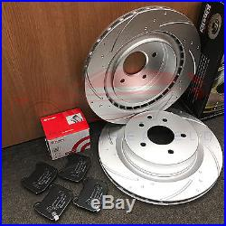 For Nissan 350z Infiniti G35 Front Rear Dimpled Grooved Brake Discs Brembo Pads