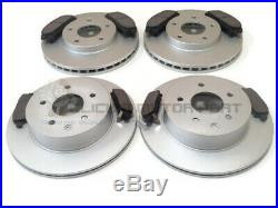 For Nissan X-trail Xtrail 2001-2007 Front & Rear Brake Discs And Pads Set New