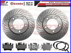 For Porsche Boxster Cayman 986 987 Front Rear Genuine Brembo Brake Discs Pads