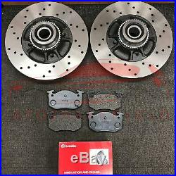 For Renault Clio Sport 172 182 2.0 Rear Brake Discs Brembo Pads + Abs Bearings