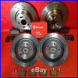 For Renault Megane 2.0 sport F1 RS R26 230 Front rear drilled brake discs pads