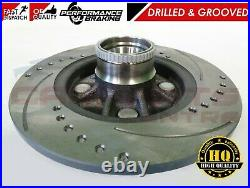 For Starlet Glanza Ep91 Ep82 Drilled Grooved Rear Brake Discs Abs Ring & Pads